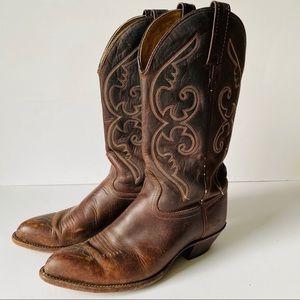 Vintage J Chisholm Western Cowboy Boots